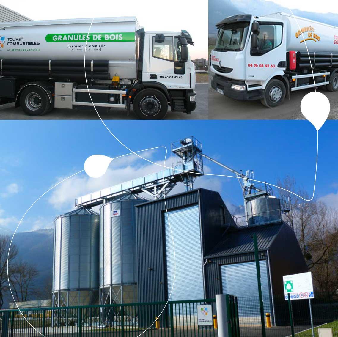 camions et silos à pellets bois Touvet Combustibles